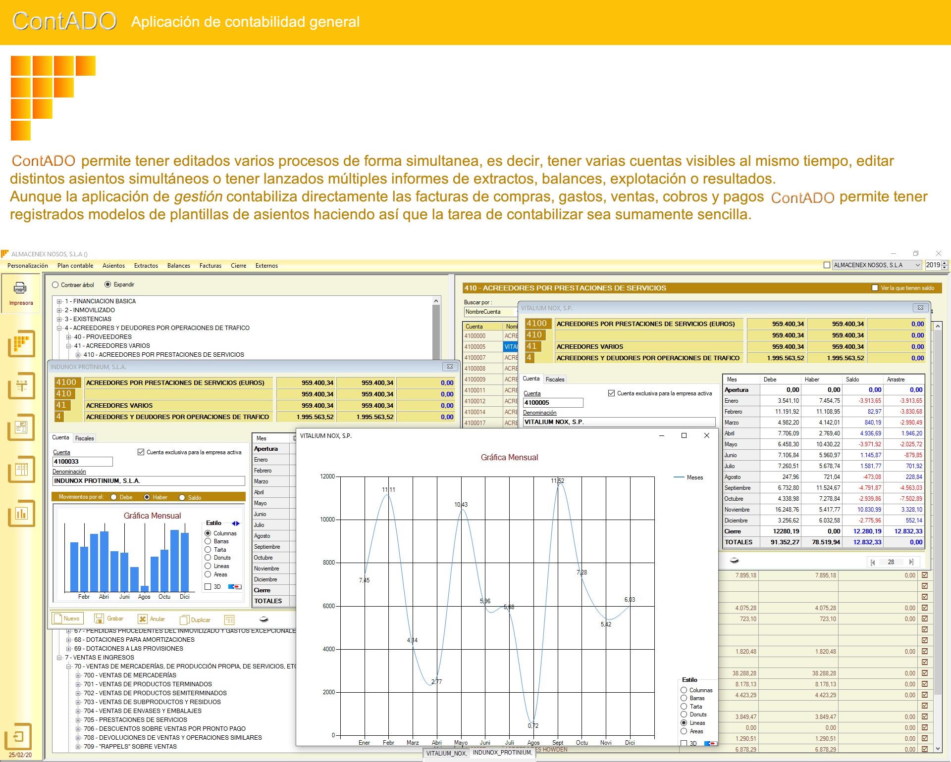 Contado - Aplicación de contabilidad general